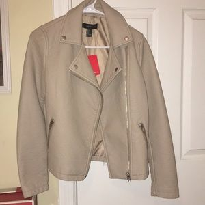 NWT FOREVER 21 FAUX MOTO JACKET